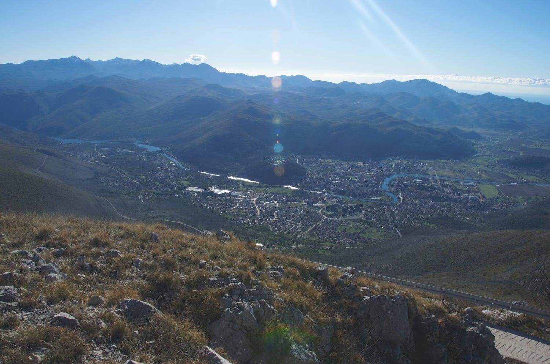 Pogled na Trebinje sa cilja