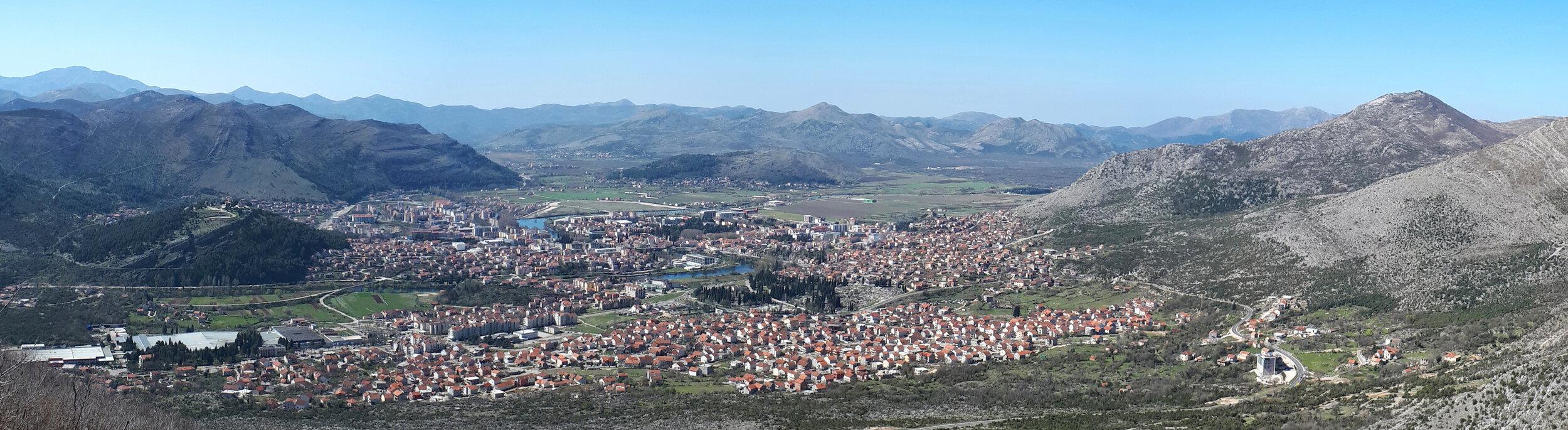 Panorama Trebinja sa staze