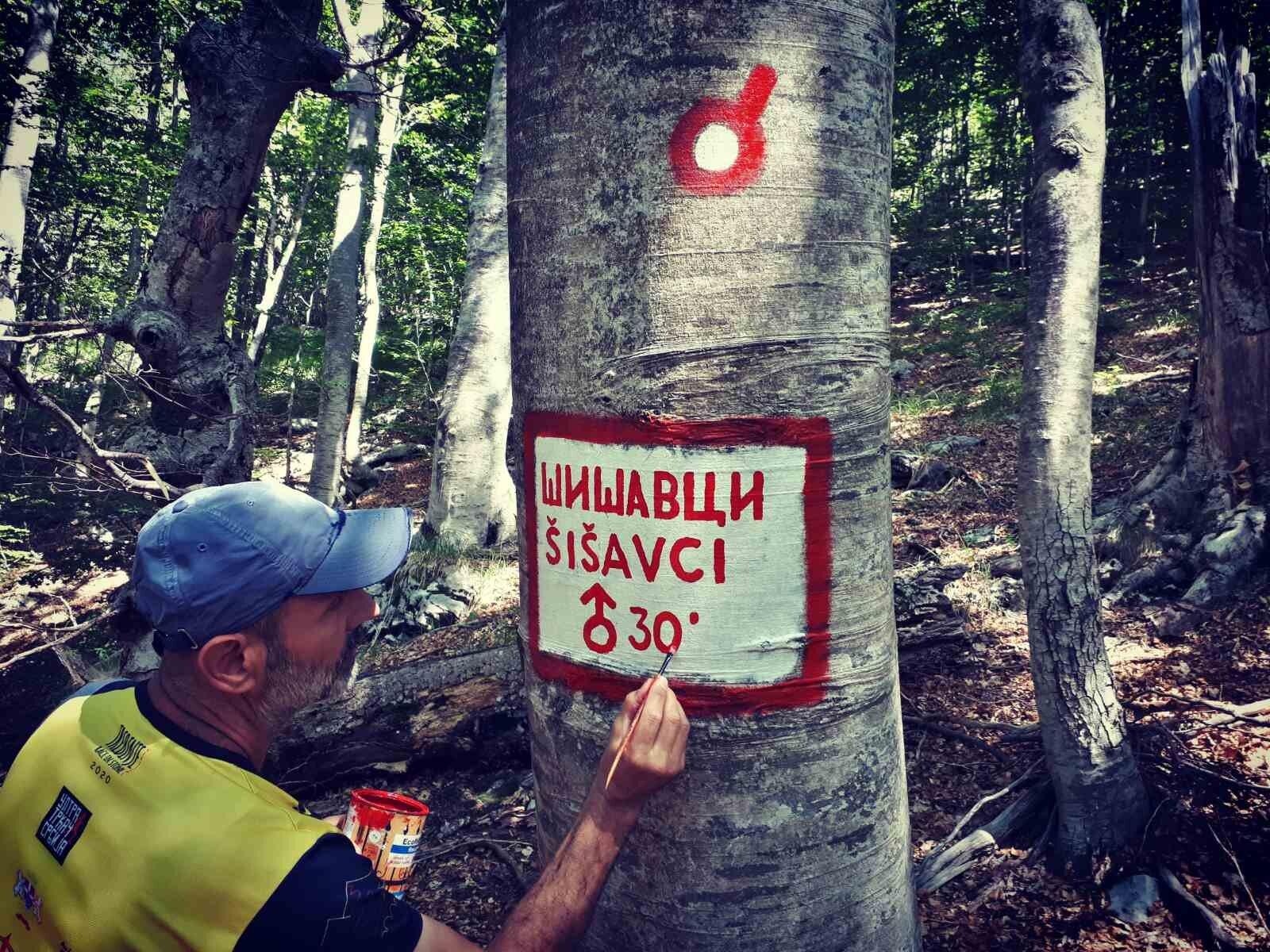 Pisanjem putokaza na stazi ozvaničeno Branovo i Srđanovo markiranje